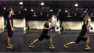 Forward Lunge + Shoulder Flex
